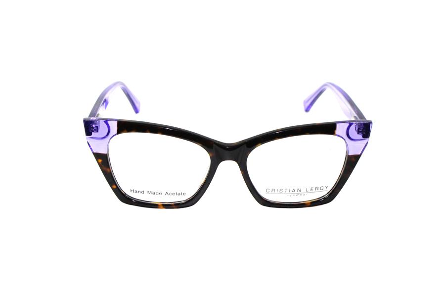 CRISTIAN LEROY - KUALA LUMPUR Viola trasparente e frontale nero maculato