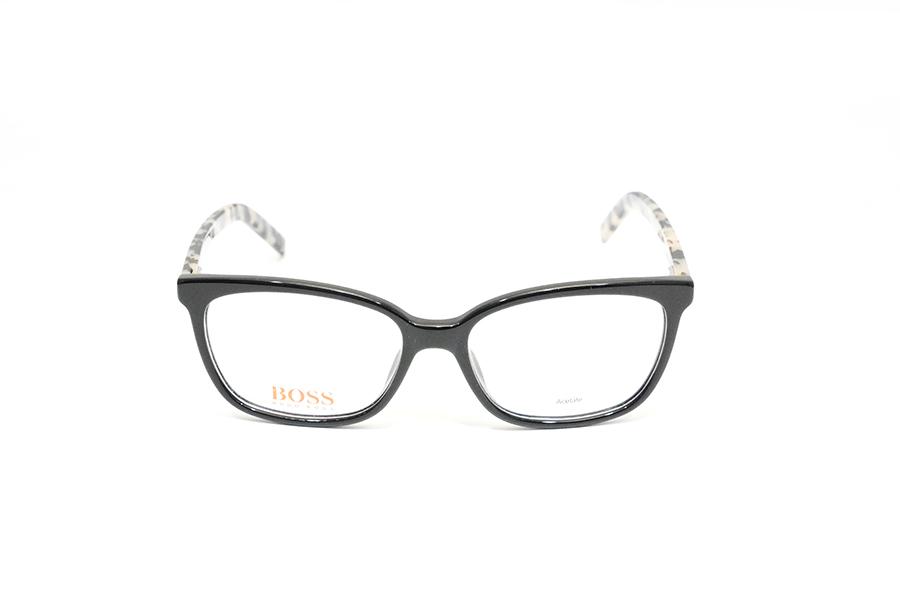 HUGO BOSS - BO 0257 nero con aste marmorizzate