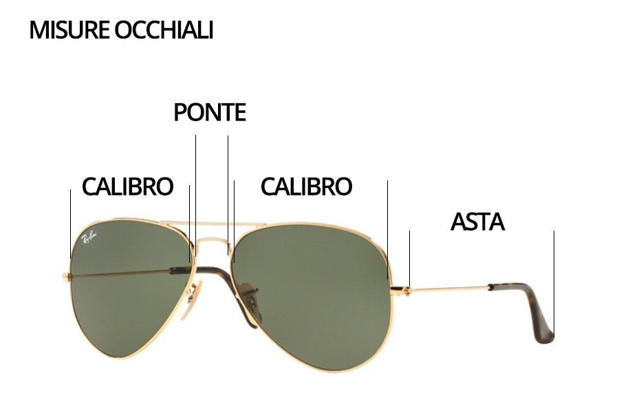 misura occhiali sole ray ban