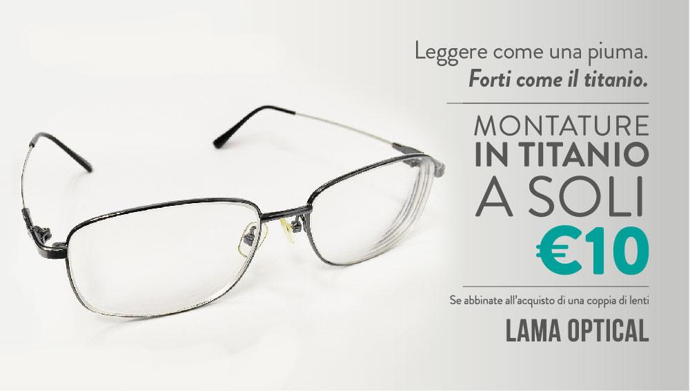 Promozioni occhiali da sole vista e lenti a contatto for Occhiali in titanio da vista
